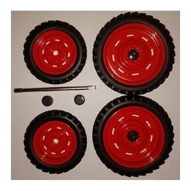 Sprøjtehjulsæt Claas rød 46mm og 60mm