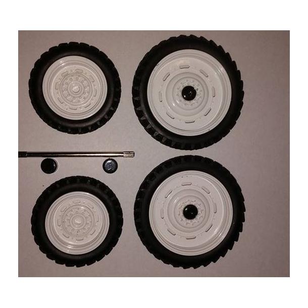 Sprøjtehjulsæt hvide 46mm og 60mm