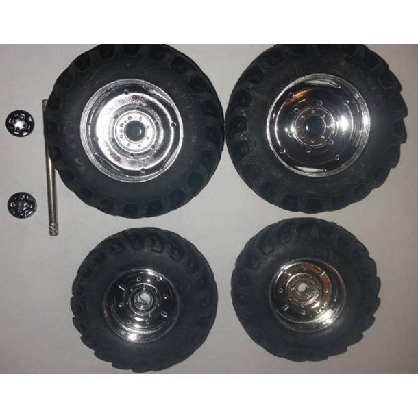 Hjulsæt chrom 17x49,5mm/20x57mm
