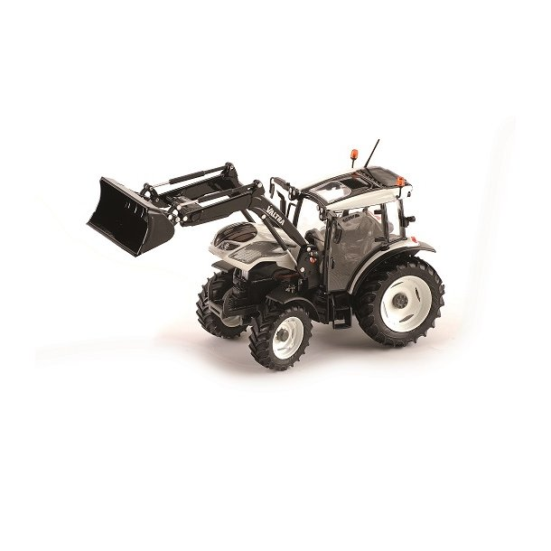 Valtra A104 hvid med frontlæsser 1/32 Traktor ROS