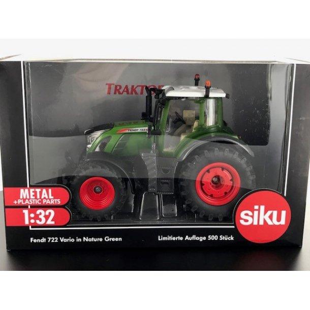 Fendt 722 Vario Nature Green Ltd Edition 500 stk Traktorado traktor med dansk nummerplade 1/32 Siku