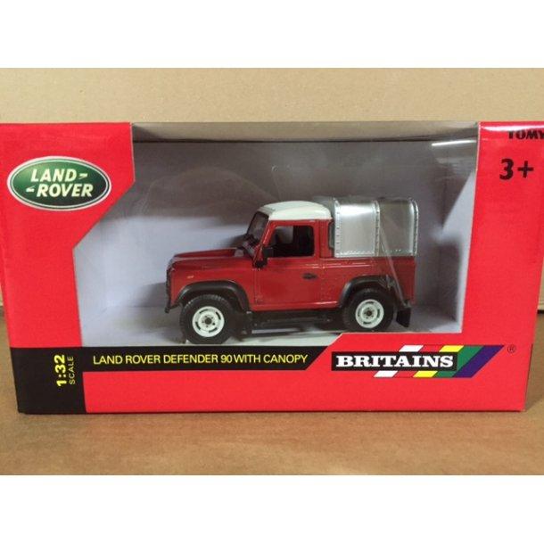 Land Rover Defender 90 rød top 1/32 Britains