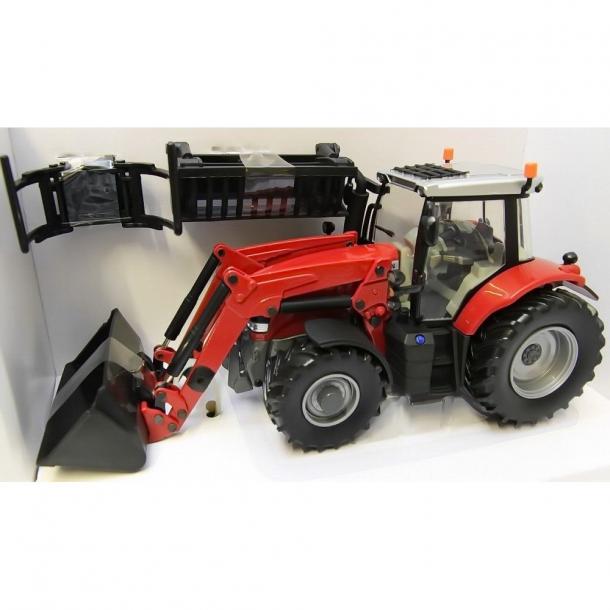 Massey Ferguson 6616 med frontlæsser 1/32 traktor Britains