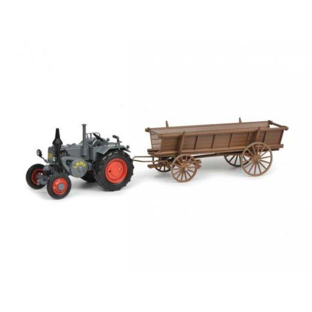 Lanz Bulldog traktor med vogn 1/32 Schuco