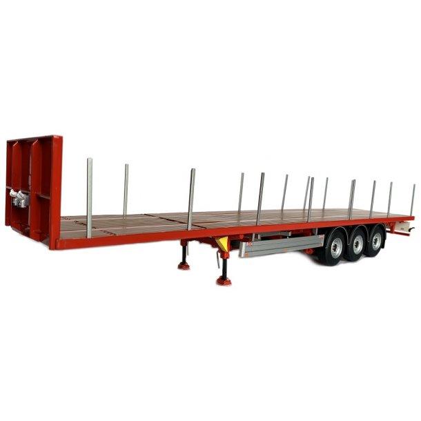 Pacton flatbed trailer rød 1/32 Marge Models