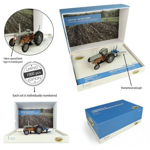 Ferguson FE35 med Rumptstad plov - Limited Edition traktor 1/32 UH Universal Hobbies