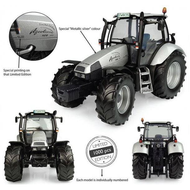 Deutz-Fahr Agrotron 120 MK3 No.555 Silver - Limited Edition traktor 1/32 UH Universal Hobbies