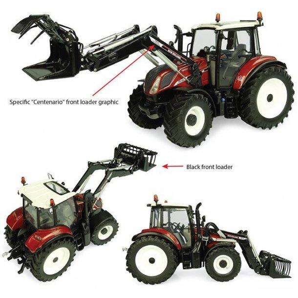 New Holland T5.120 traktor med frontlæsser Centenario 1/32 UH Universal Hobbies