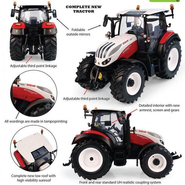 Steyr Expert 4130 CVT panorama tag traktor 1/32 UH Universal Hobbies