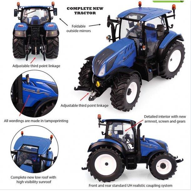 New Holland T5.130 panorama tag traktor 1/32 UH Universal Hobbies