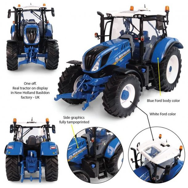 Ford New Holland T6.180 Heritage Blue Edition traktor 1/32 UH Universal Hobbies