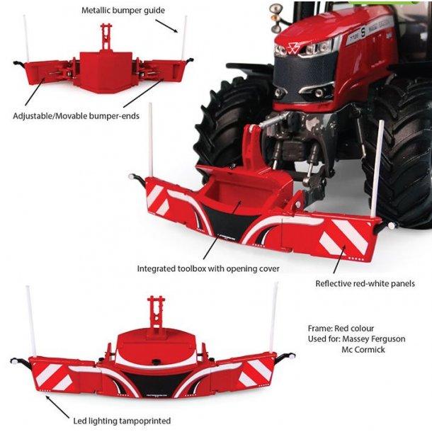 Tractorbumper Safetyweight 800kg rød 1/32 UH Universal Hobbies