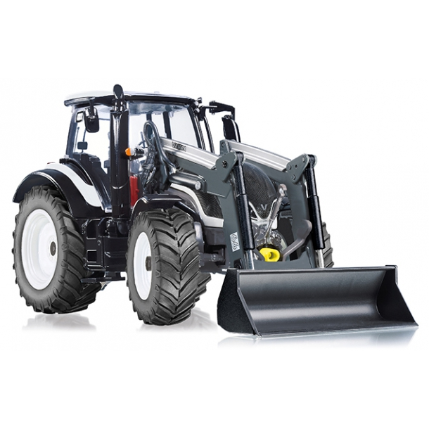 Valtra T174 hvid med frontlæsser traktor 1/32 Wiking