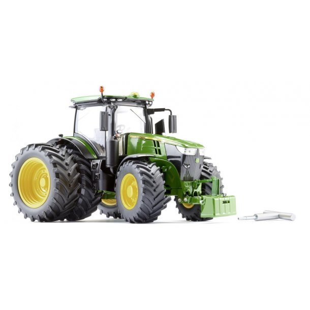 John Deere 7310R med tvillinghjul traktor 1/32 Wiking