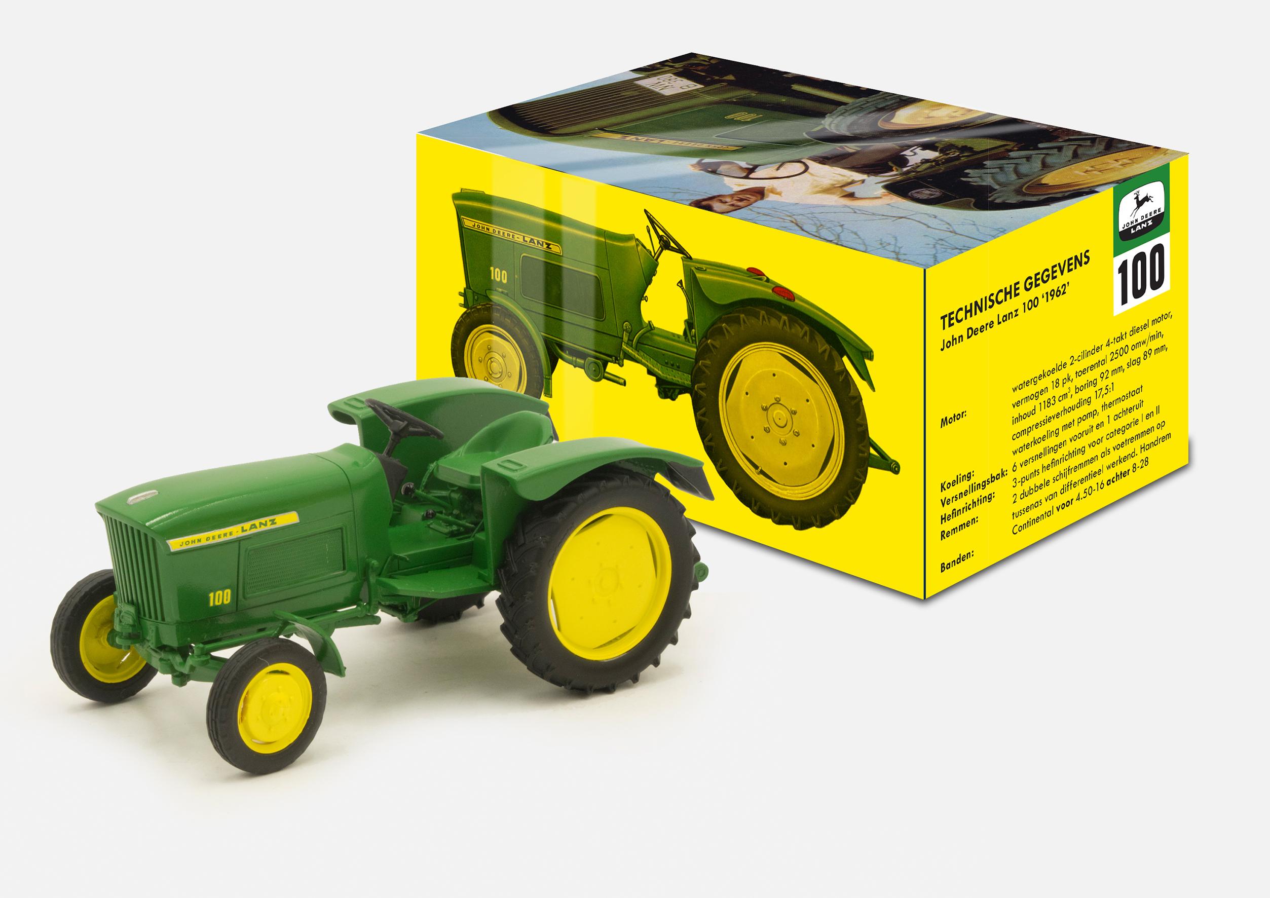 john deere lanz 100 limited edition 100 stk traktor 1 32 h ndbygget traktorer 1 32. Black Bedroom Furniture Sets. Home Design Ideas