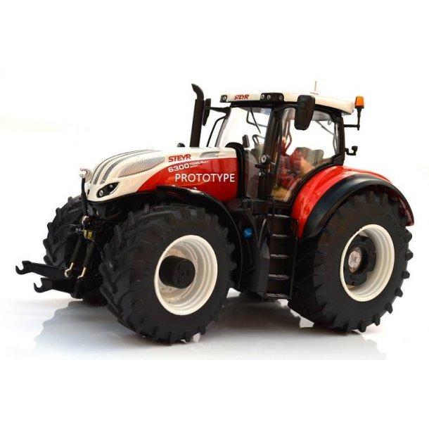 Steyr 6300 Terrus CVT Mat Rød - Limited Edition limited 250 stk traktor 1/32 Marge Models