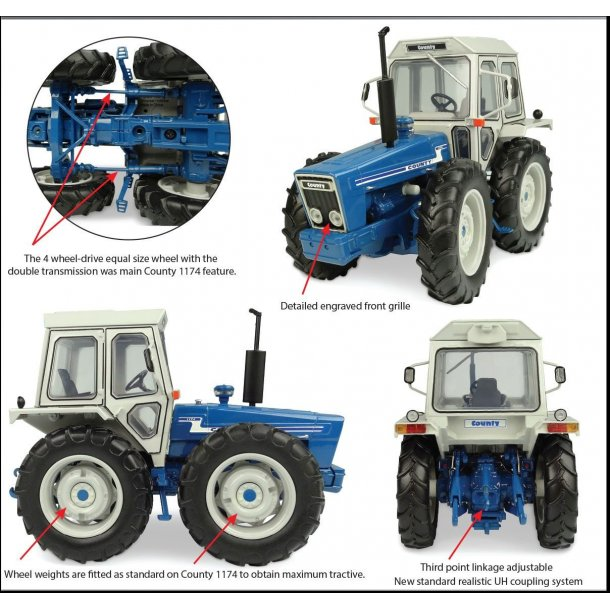 Ford County 1174 traktor 1/32 UH Universal Hobbies