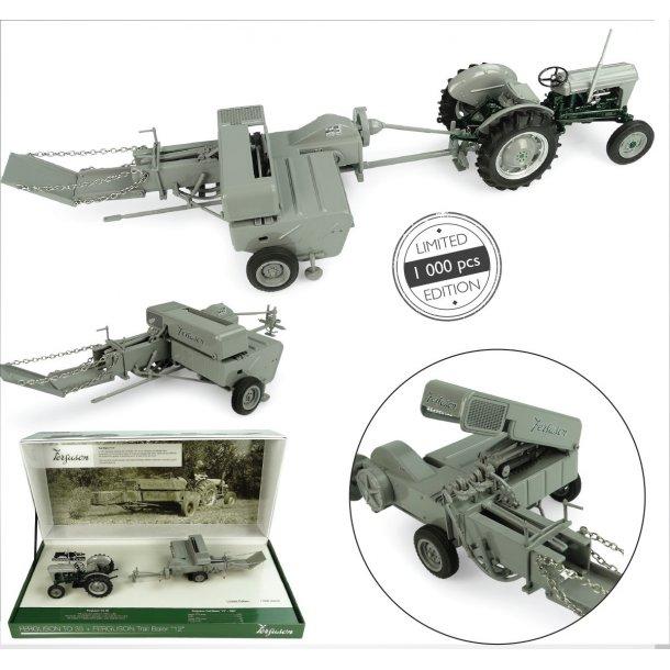 Massey Ferguson TO 35 & Ferguson F12 traktor og presser Ltd Ed 1000 stk 1/32 UH Universal Hobbies