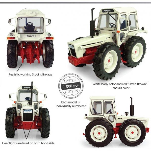 County 1174 hvid/rød udgave Limited Edition traktor 1/32 UH Universal Hobbies