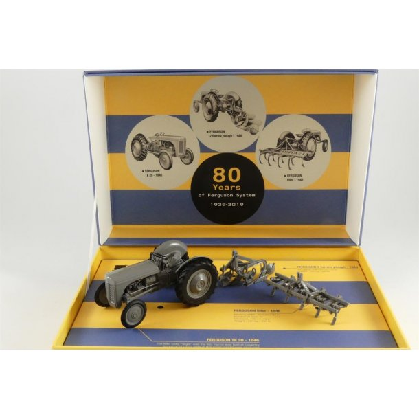 Ferguson TE 20 sæt  med plov og harve traktor 1/32 UH Universal Hobbies